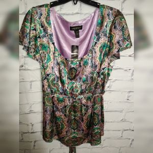 Lane Bryant mandala print plus size top.
